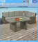 Garden Leisure Furniture Half Round Wicker Rattan Corner Sofa Set