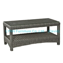 Small PE Rattan Coffee Table for Garden Sofa