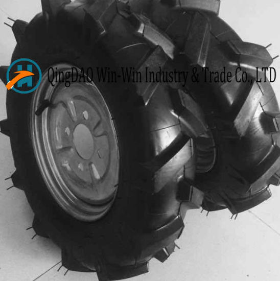Wear-Resistant Rubber Wheel for Lawn Mower Wheel (4.00-8)
