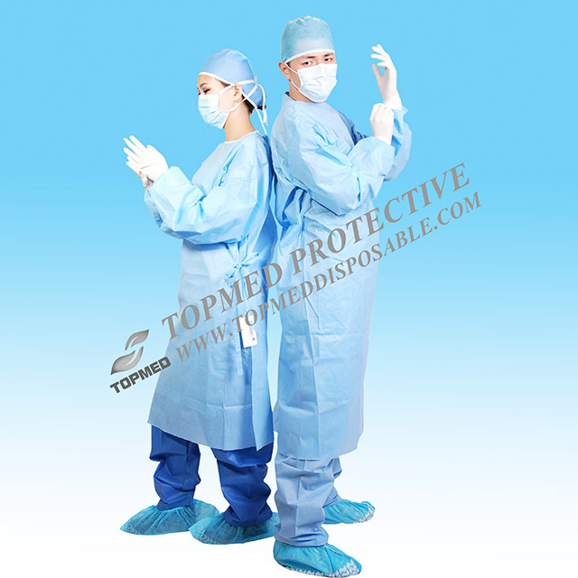 Surgical gown - Buy Surgical gown Product on Xiantao Topmed Nonwoven ...
