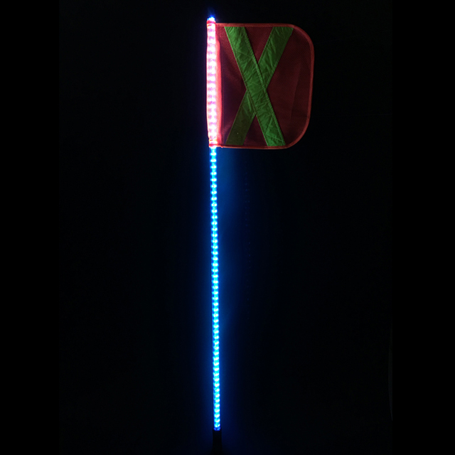 4ft Solid color LED lighted whips