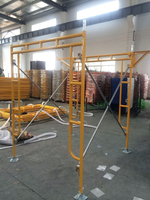"5′x6′4"" Walkthrough Frame Scaffolding Set Yellow Powder Coated"