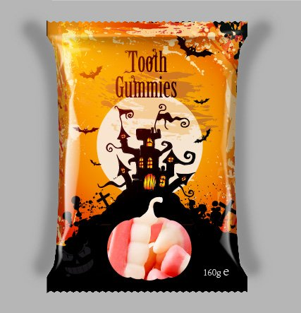 Halloween Teeth Gummy Candy