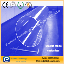 Big Size Transparent Quartz Glass Tubing