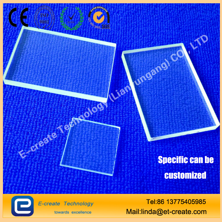 Quartz Glass High Temperature Test Vacuum Coating Quartz Sheet Ultra - thin Quartz Substrate Finishing Customization