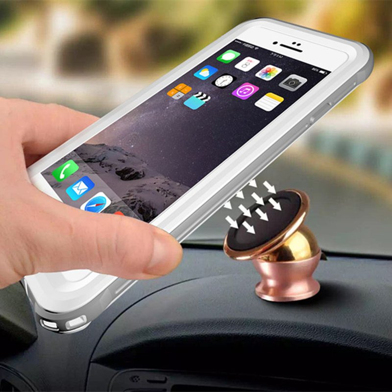 Magnetic Car Holder Use Waterproof Mobile Phone Case with Metal Sheet