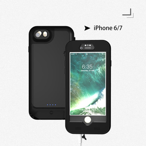 4.7inch Universal Waterproof Battery Case with Build 3.5mm Headphone Jack Waterproof Power Bank for IPhone 6/7/8