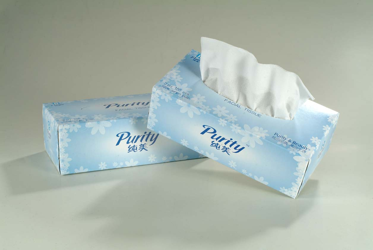 carton paper box packed facial tissue paper