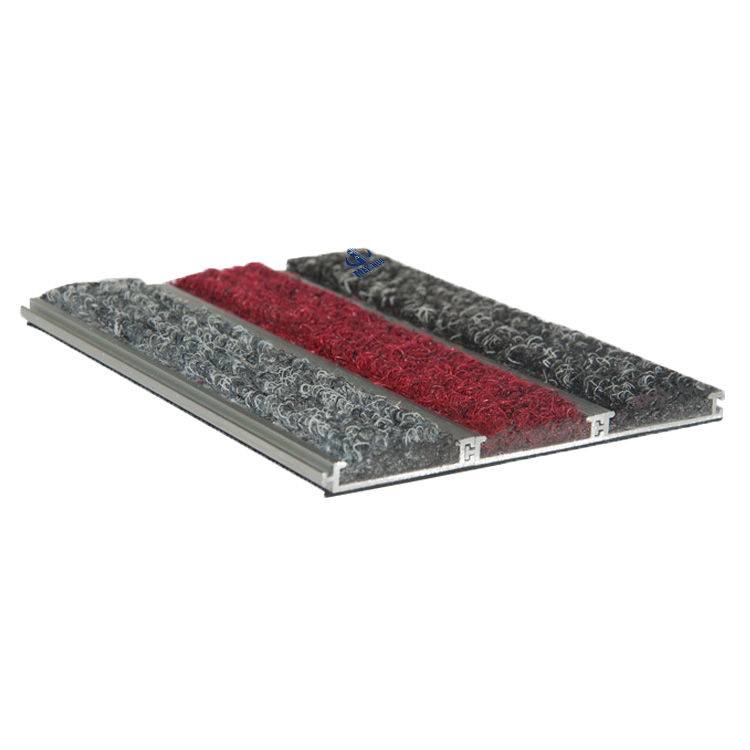 Interlocking low base aluminum entrance mat MS-960