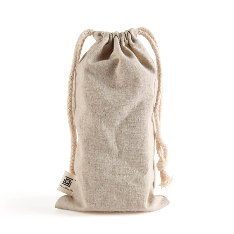 Personalized natural cotton draw string bag