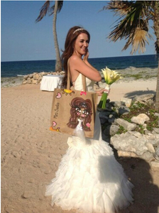 Personalized wedding jute bags