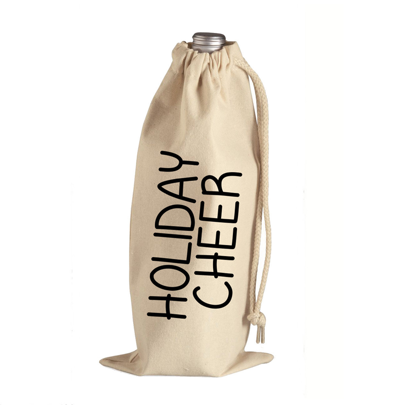 Personalized Drawstring Wine Bottle Tote