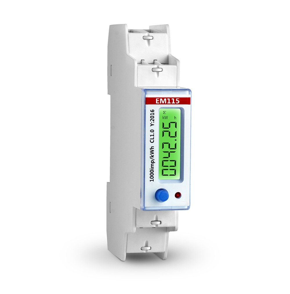 Em115 Modbus Single Phase Din Rail Energy Meter 18mm Wide 230v 545 How To Wire Kwh Electrical Technology
