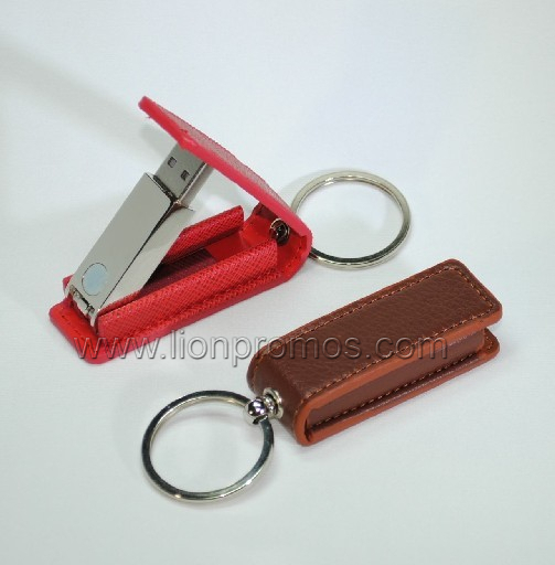 8GB Custom Logo Debossed Corporate Executive Gift Leather USB Flash Disk