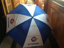 Petro Oil Promotional Business Gift Two Layers Wind Proof Golf Umbrella