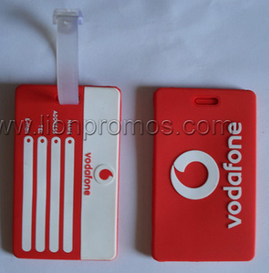 Vodafone Logo Embossed PVC Rubber Luggage Tag