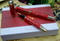 Chinese Traditional Elements Red Ceramic Pen