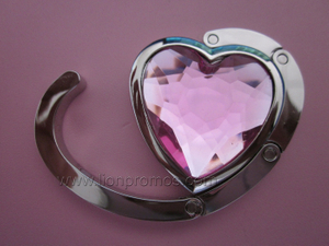 Lady Promotional Gift Diamound Metal Bag Holder