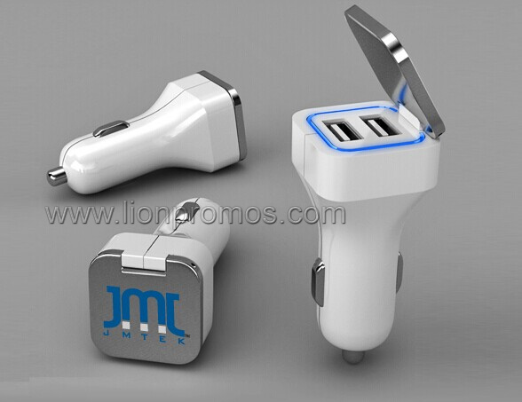 Custom Logo Car Promotional Gift USB Output Mobile Charger