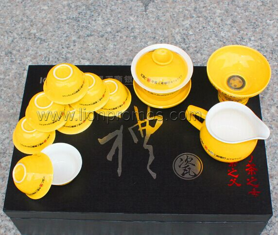 Bank VIP Business Gift 12pcs Ceramic Tea Ware Set