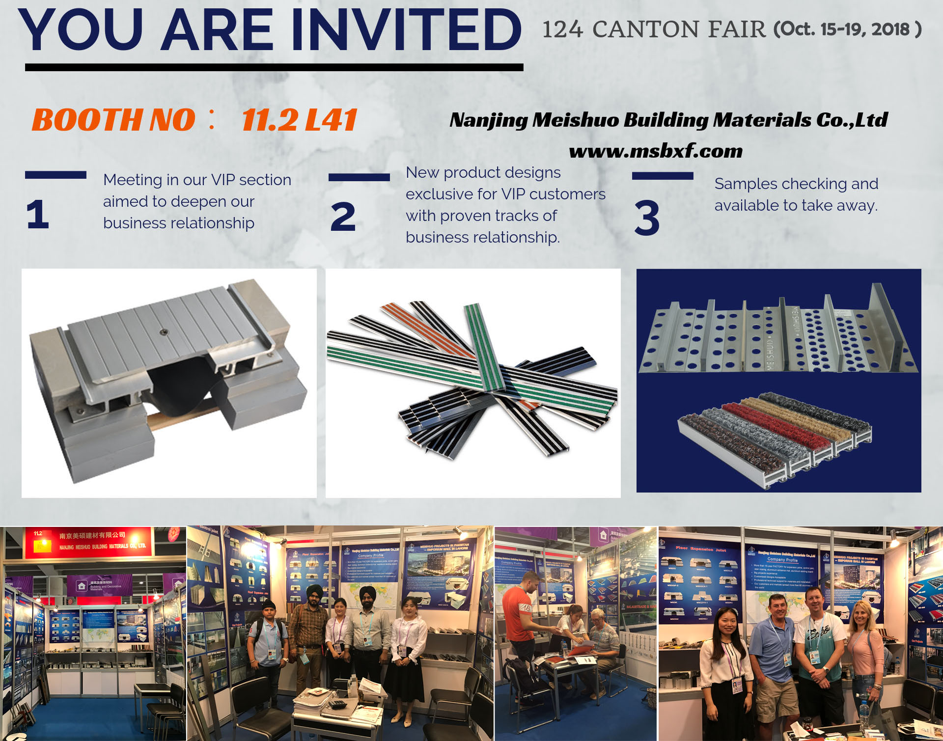 You are invited! Meet us in 124th CANTON FAIR