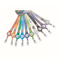 Custom Nylon Lanyards with Print Logo And YoYo Tag Attached