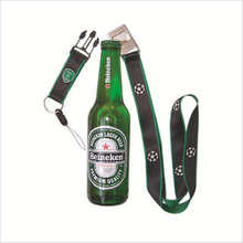 Customized logo lanyard with bottle opener for beer