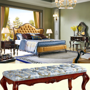 8802 Bedroom Furniture Wood Bed