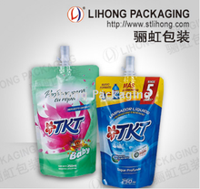 Standing Pouch With Nozzle For Detergent