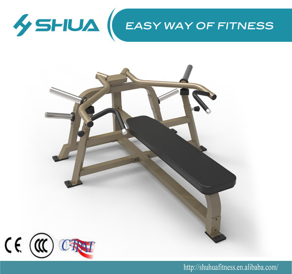 Plate loaded flat bench