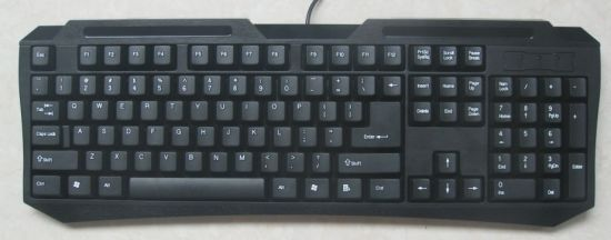 Wired Standard Keyboard with Simple Design for Computer