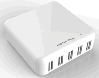 Smart Charger 5 Ports, CE/RoHS/ETL Compatible