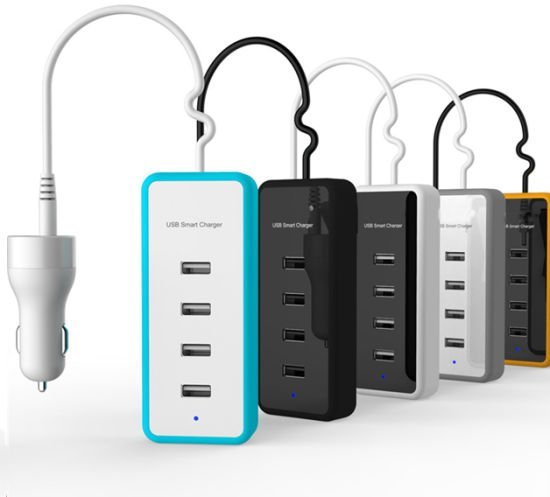Quick Charger for Car Use, 4 USB Ports Available