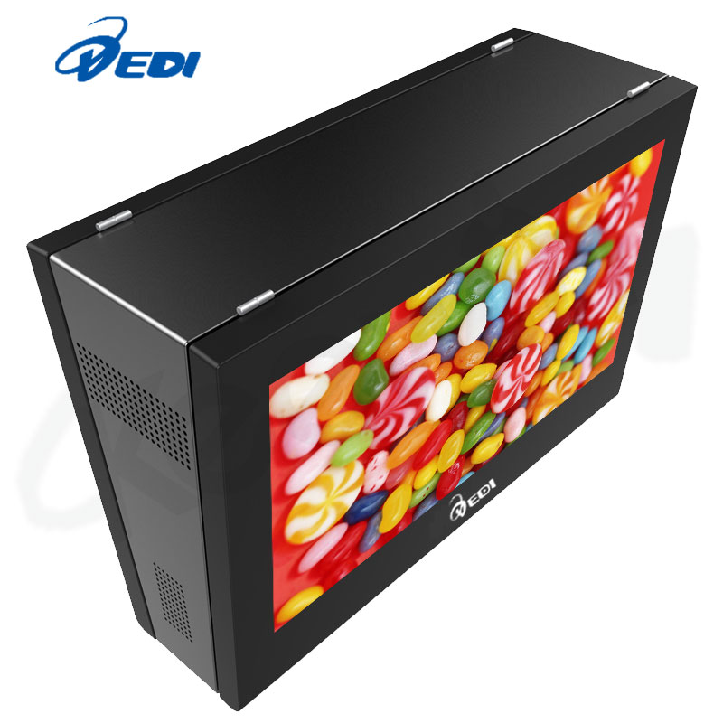 2500ni32inch High brightness outdoor LCD double screen hang monitor style by