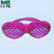 LED Flashing Light Up eyeGlasses Slotted Shutter Shades