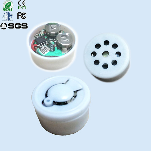 Customized recordable push button sound chip for plush toy and doll