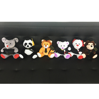 Stuffed Graduation six cute animals shape design with cap