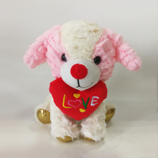 New Design Crushing PV Dog Puppy Plush Toys with love Heart