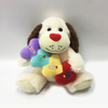 Valentine Light Brown Plush Soft Dog With Heart