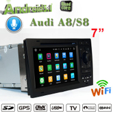 carplay audi a8 s8 android 7.1 car dvd player gps navigation car stereo 2+16G