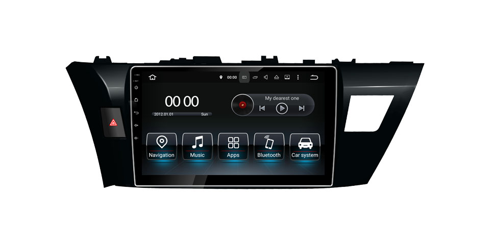 Car DVD GPS Navigation Wifi Radio Android 8.0 For Toyota Corolla 2014-2016 10'' (Fits: Corolla)