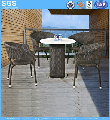 Outdoor Restaurant Furniture Coffee Shop Rattan Chair and Table