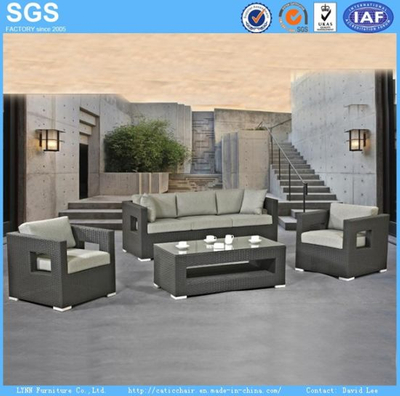 Garden Hotel Leisure Furniture Synthetic Rattan Wicker Sofa