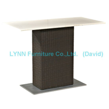 Garden Table Outdoor Restaurant Dining Table Rattan Table