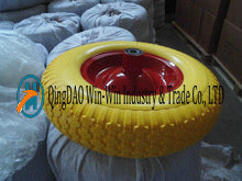 Solid PU Wheel for Wheelbarrow (4.00-8)