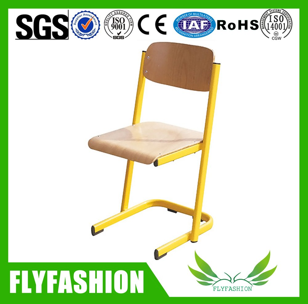Classroom Furniture Metal Frame Wooden School Chairs Sf 79c