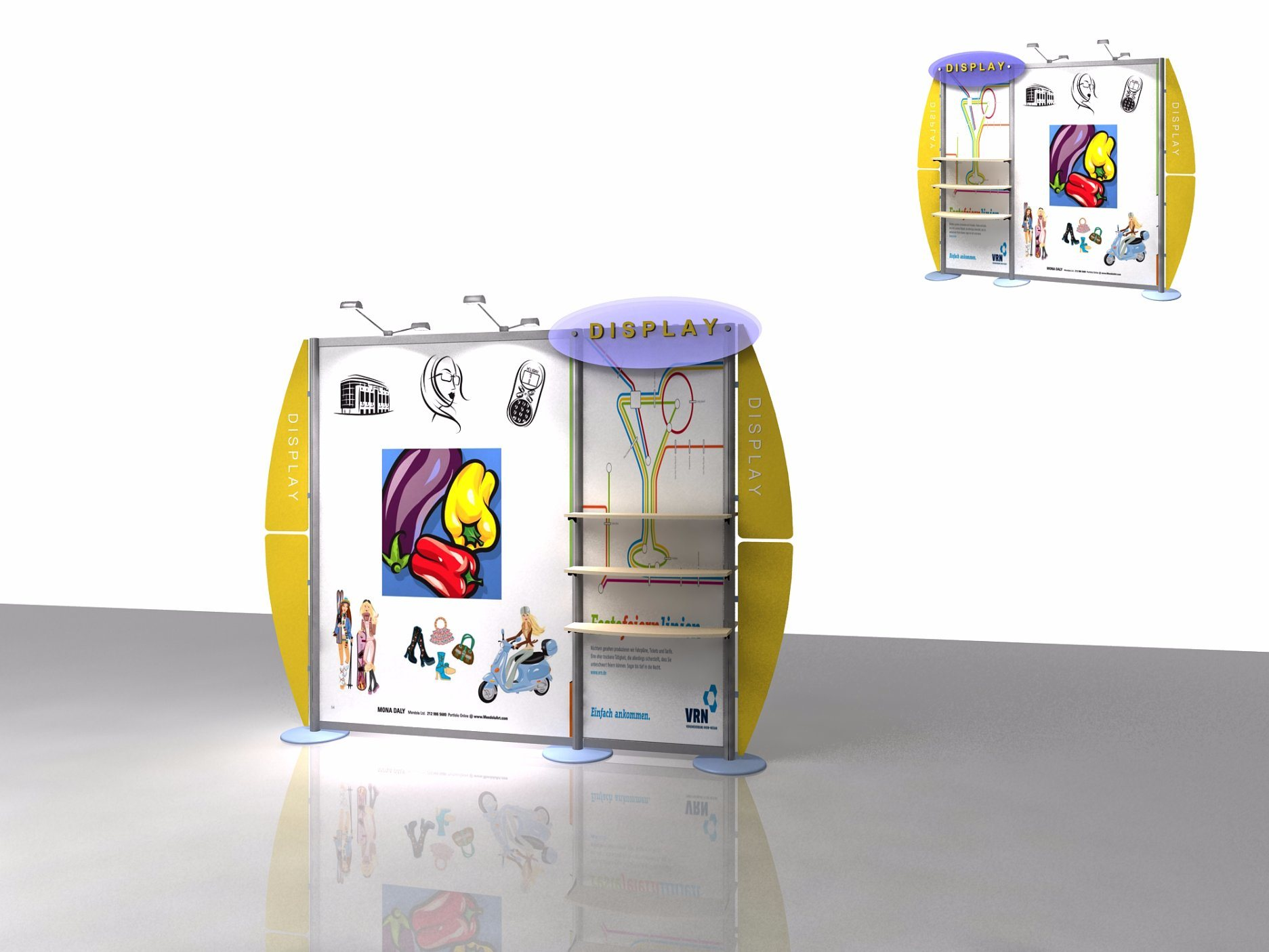 Trade Show Booth Hs Code : Folded exhibition booth advertising stand equipment with sport lights