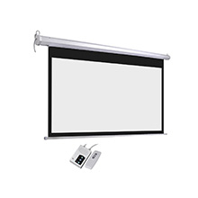 Electric Projector Motorized Projection Screen With Matte White For Education