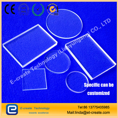 Quartz glass plate high purity and high permeability of high temperature glass quartz film optical lens discs