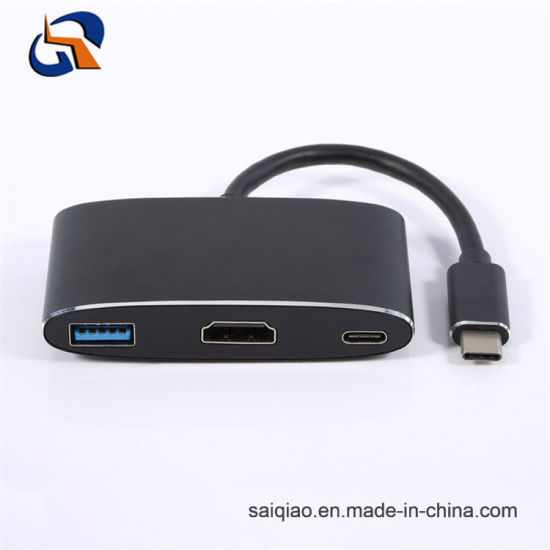 3 in 1 Type C Hub Including USB3.0 Af+HDMI+Pd
